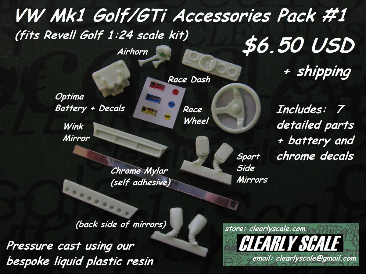 Clearly Scale Vw Mk1 Golf Gti Accessories Pack 1