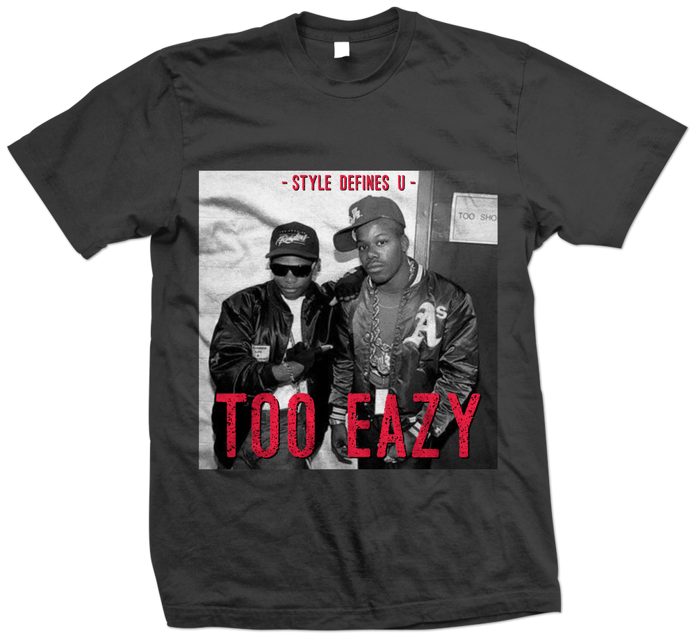 """Image of """"Too Eazy"""" tee (Black/Infrared)"""