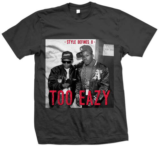 "Image of ""Too Eazy"" tee (Black/Infrared)"