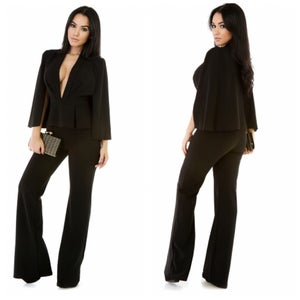Image of Caped Split Jumpsuit