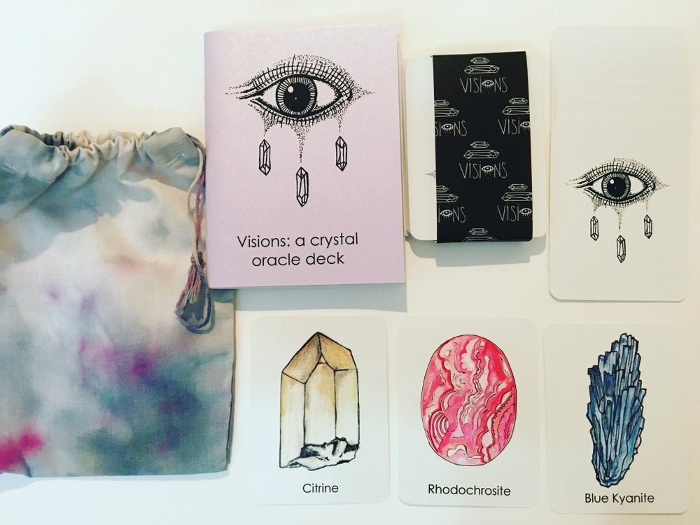 Image of Visions: a crystal oracle deck