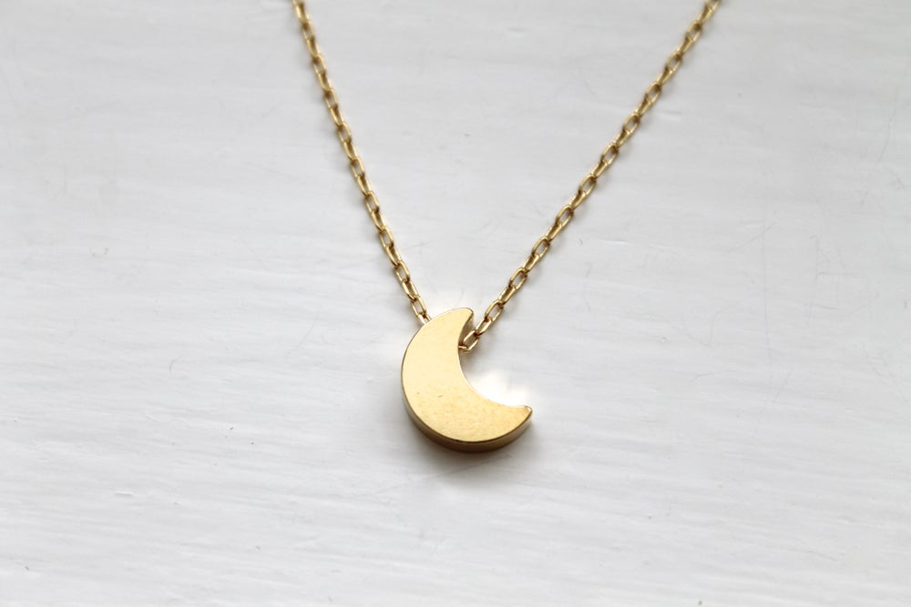 Image of Crescent Moon Necklace (Originally $22)