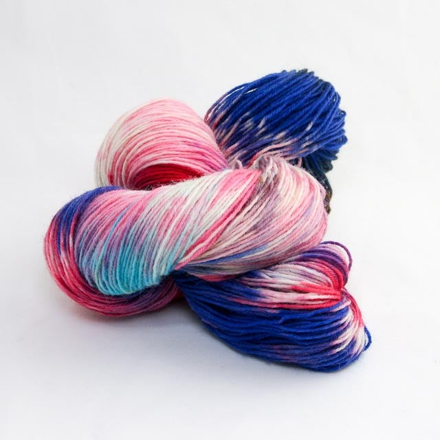 Image of Snowflake nr: 20 - Snow Dyed Sock Yarn - Monday Base