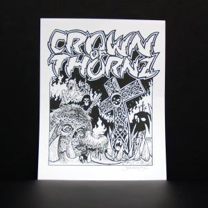 Image of STEVEN HUIE - CROWN OF THORNZ PRINT