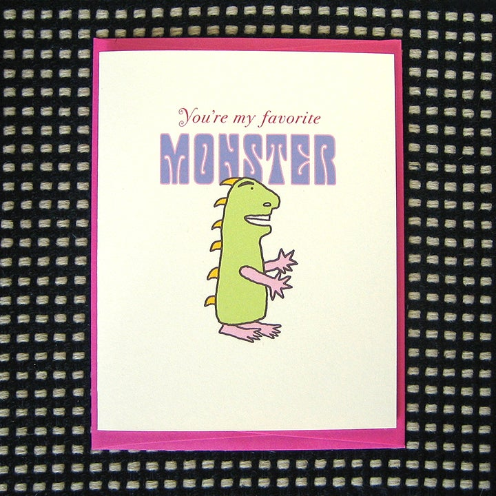 Image of MONSTER GREETING CARD