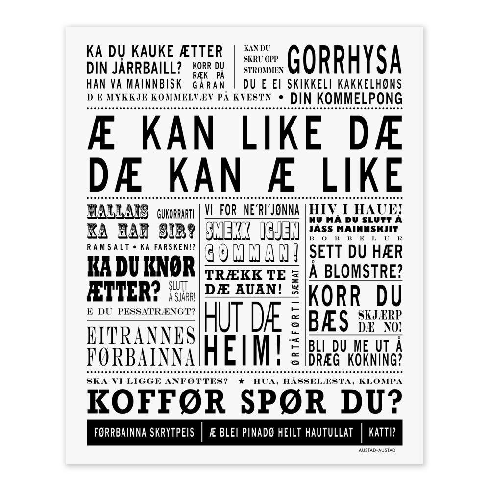 "Image of Troms postkort ""Æ kan like dæ"""