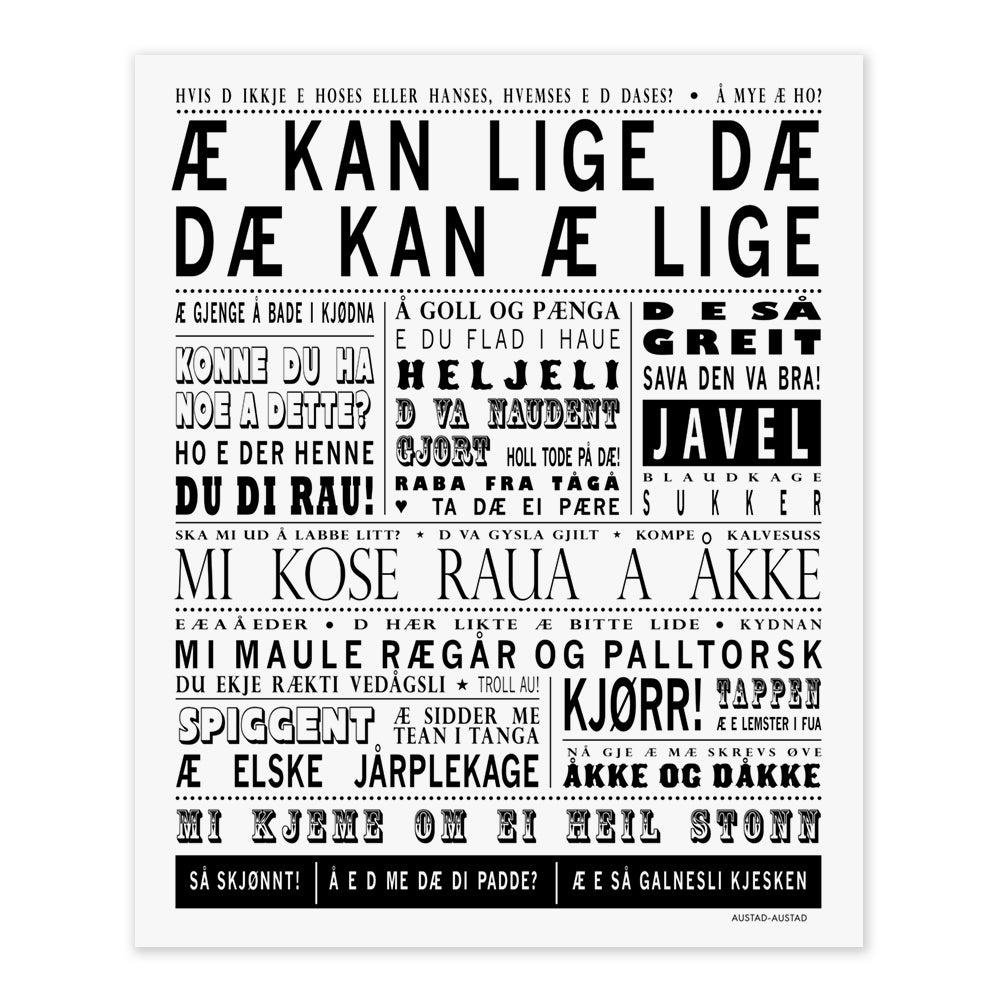 """Image of Sørlandet postkort """"Æ kan lige dæ"""""""