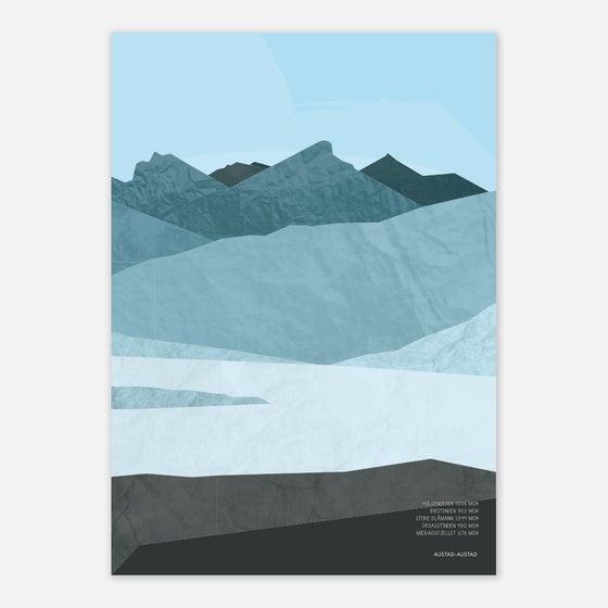 """Image of Plakat """"Fjell Kvaløya"""""""