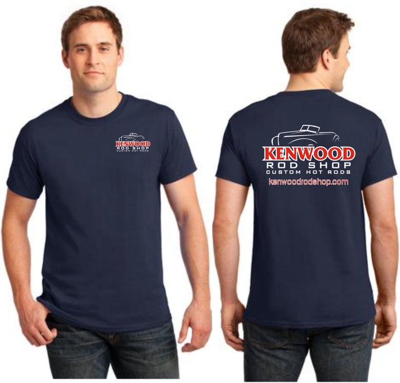 Image of Navy Kenwood Rod Shop T-Shirt