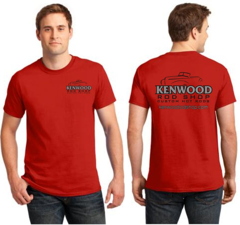 Image of Red Kenwood Rod Shop T-Shirt