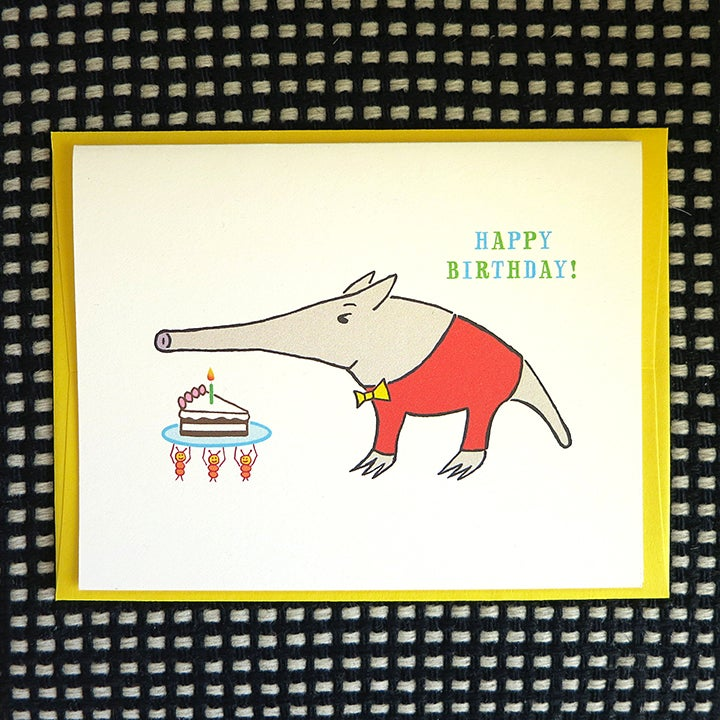 Image of ANTEATER BIRTHDAY CARD