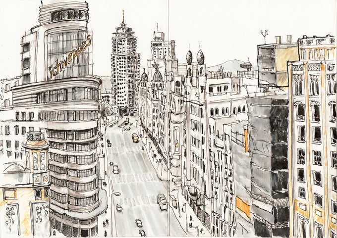Image of Gran Via of Madrid