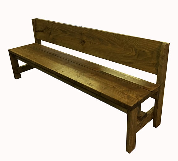 Image of 7 foot bench with back