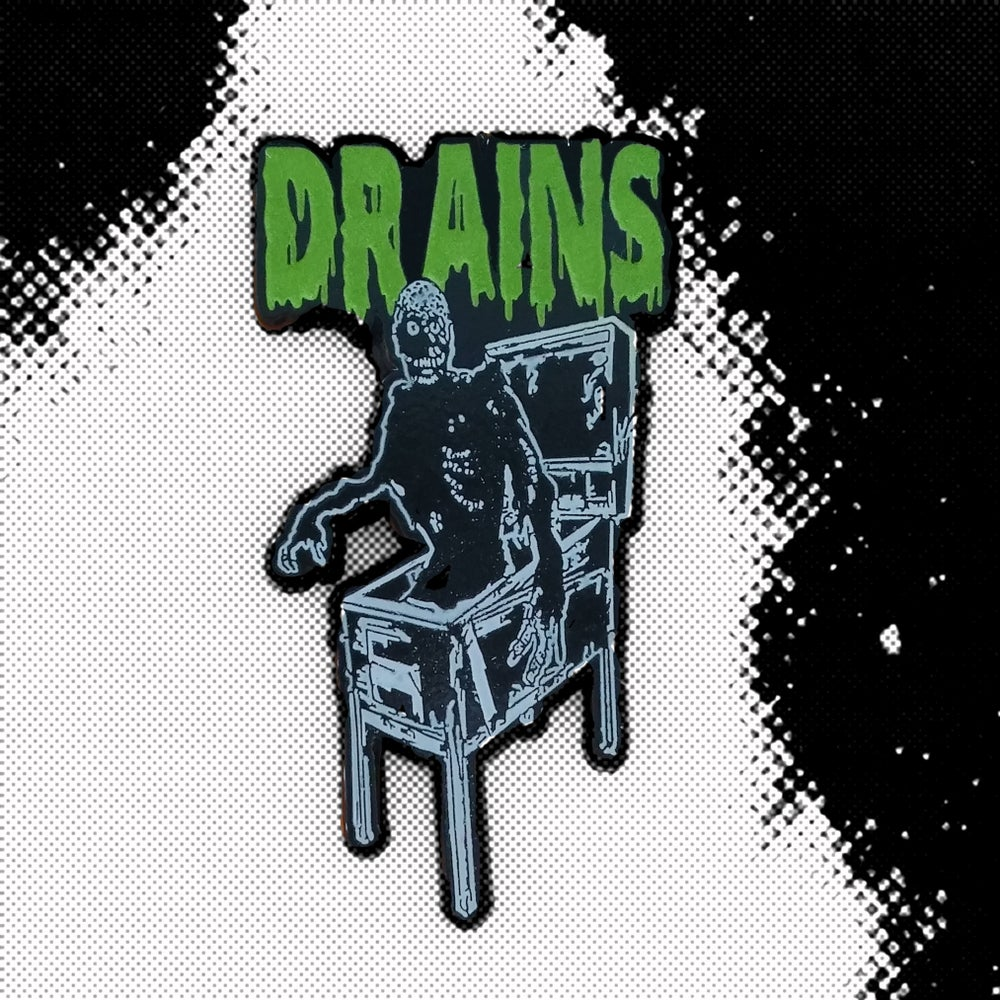 Image of Drains Enamel Pin Version II (Glow In The Dark)