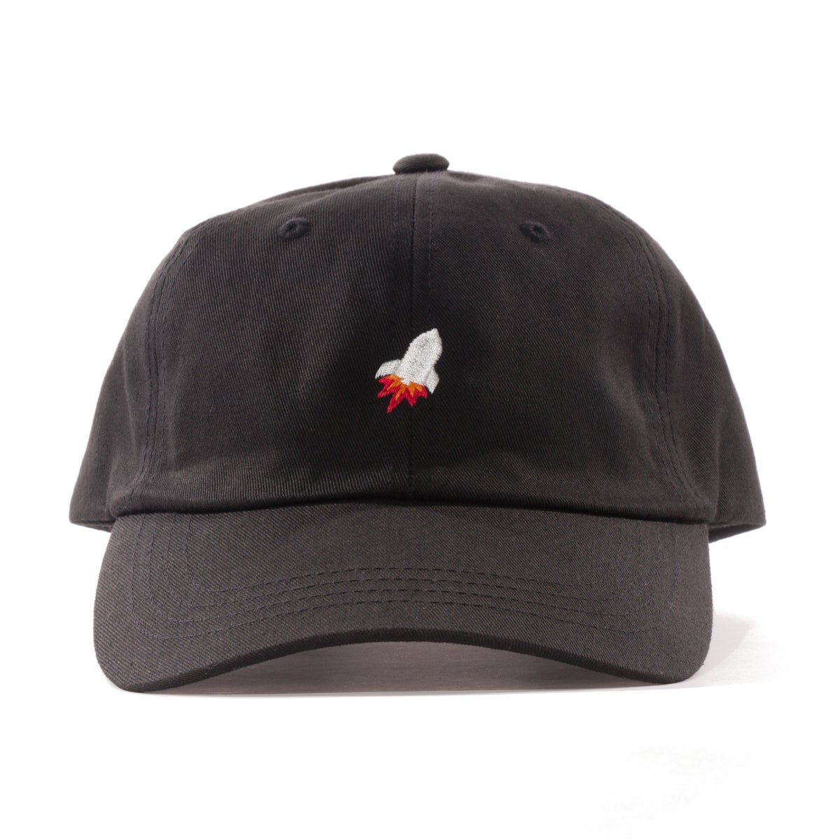 Image of Rocket Strapback Cap (Black)