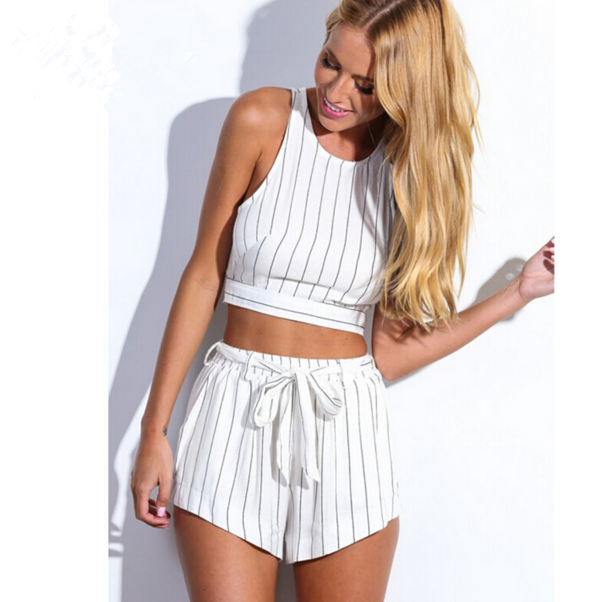 Image of HOT STRIPED TWO PIECE SUIT