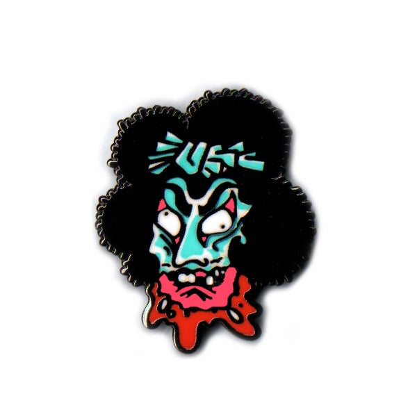 Image of Geisha Head Lapel Pin