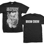 "Image of NO REDEEMING SOCIAL VALUE ""Distressed Mic Man Crew"" T-Shirt"