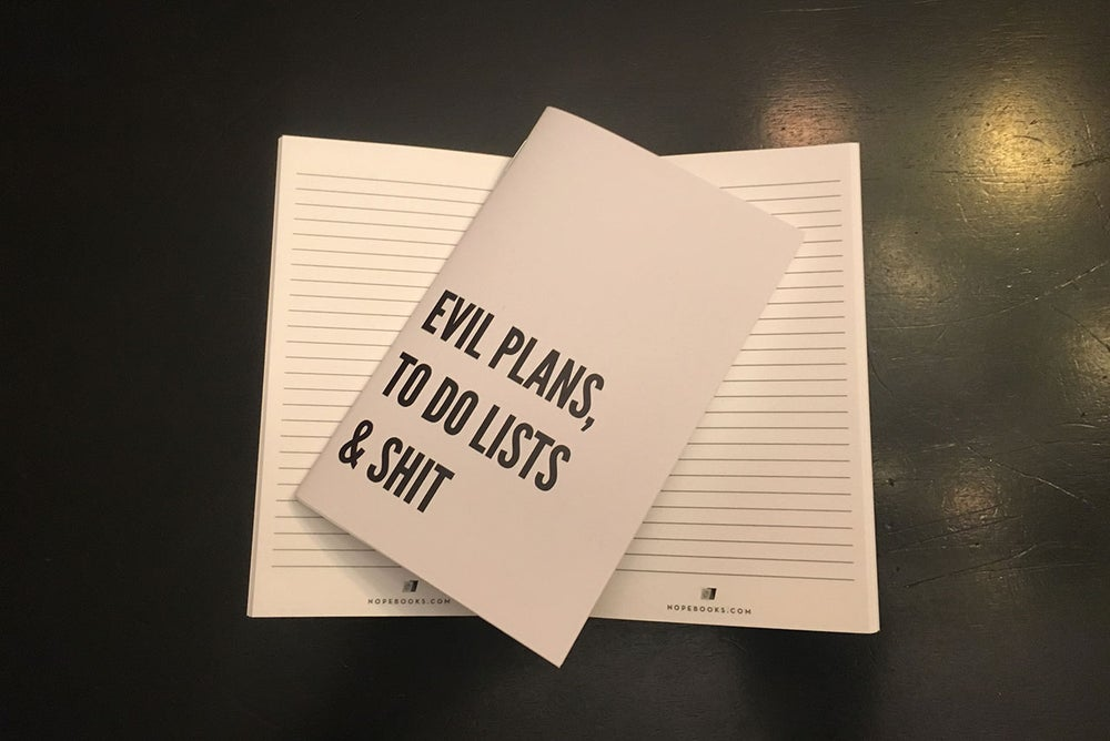 Image of Evil Plans, To Do Lists & Shit