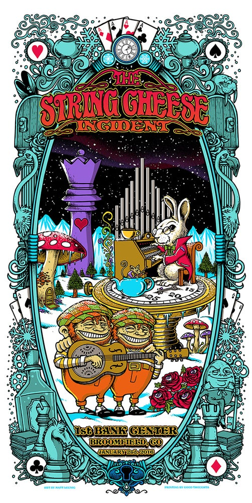 Image of STRING CHEESE INCIDENT @ Broomfield (CO) - NYE 2015 triptych