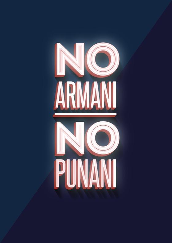 Image of No Armani, No Punani Poster