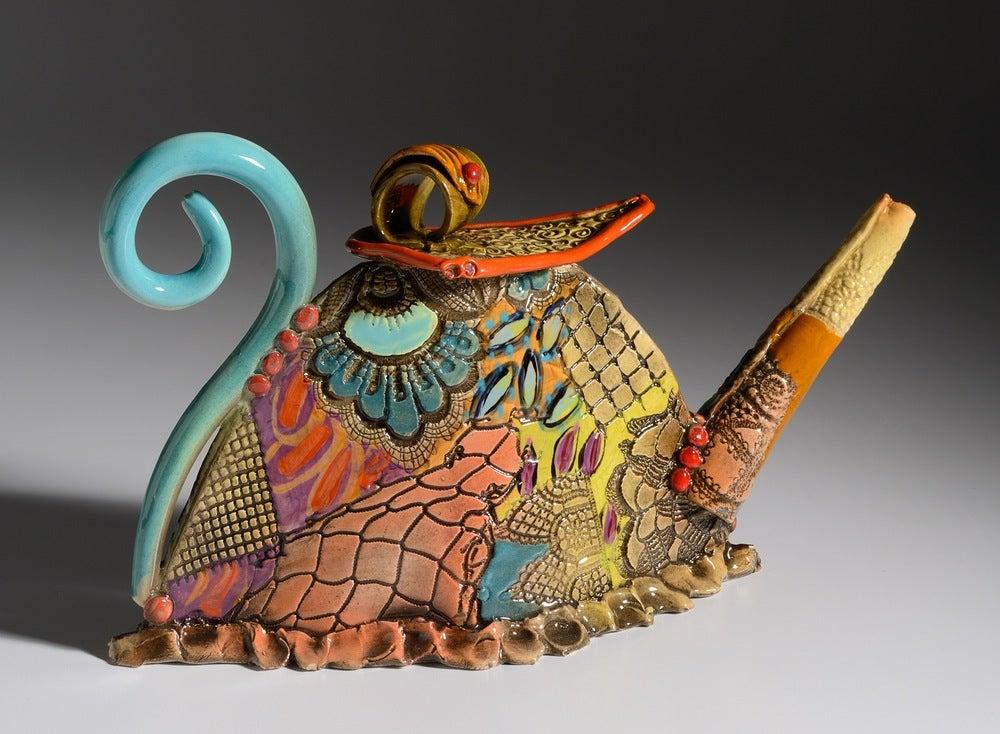 Image of Wide Ceramic Teapot