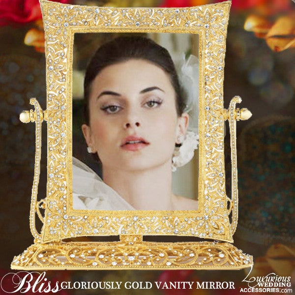 Image of Bliss Gloriously Gold Vanity Magnification Mirror