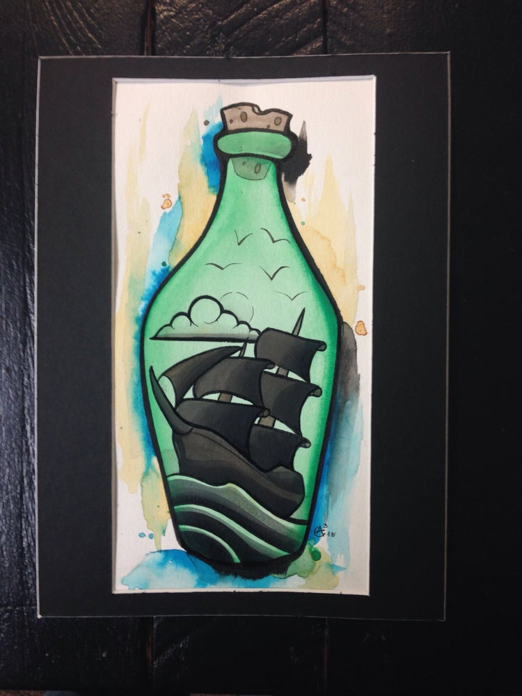 Image of Ship in a bottle
