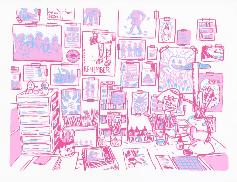 Image of Workspace Screenprint