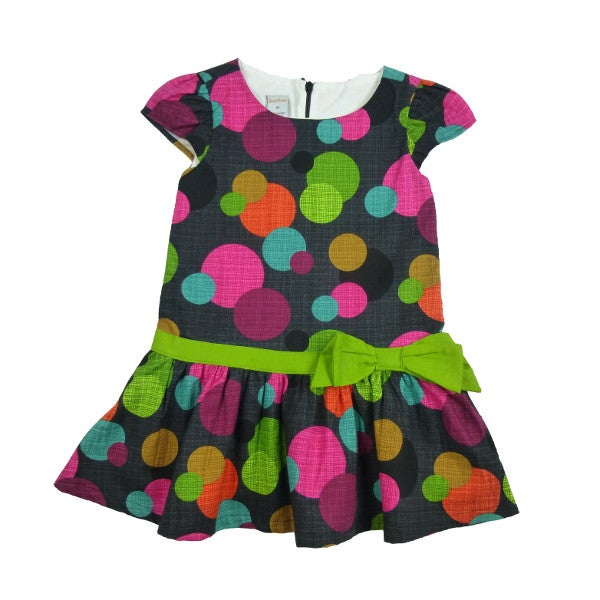 Image of Aramilore Drop-Waist Dress (Dots)