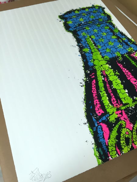 Image of Coke Hand Painted Green by TILT