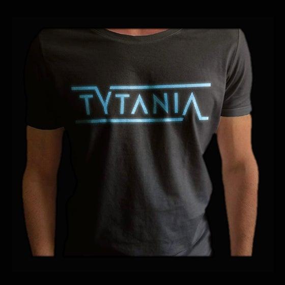Image of T-Shirt Black Blue Logo Unisex