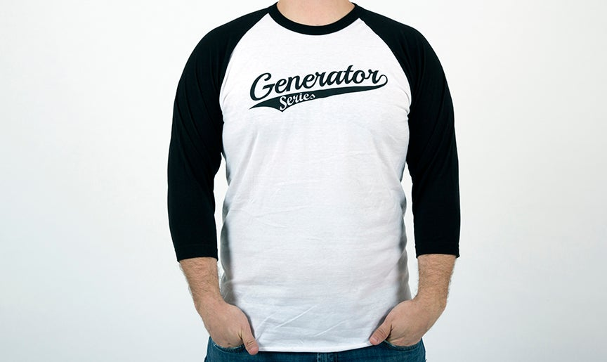 Image of Generator White Baseball T-Shirt