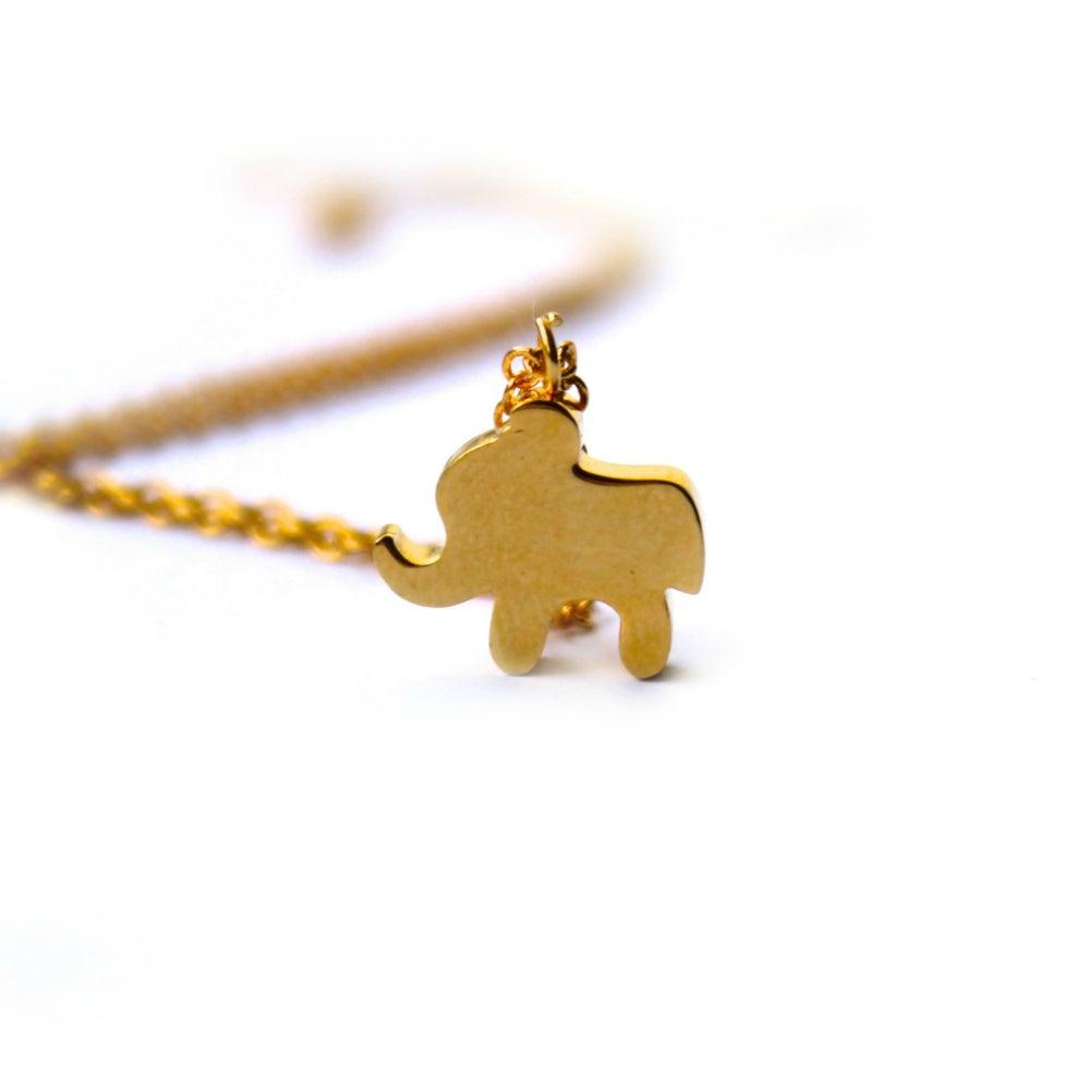 Image of TEENY GOLD ELEPHANT NECKLACE