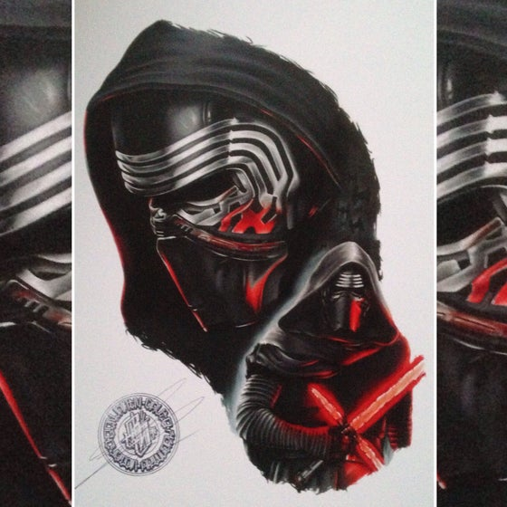 Image of Limited edition kylo-ren print (A4)