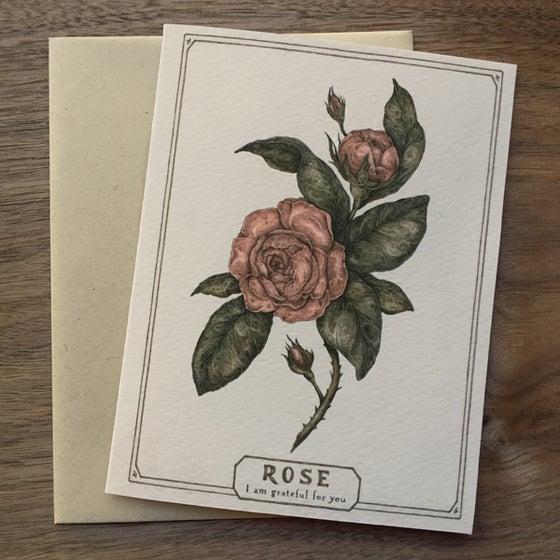 Image of Rose card