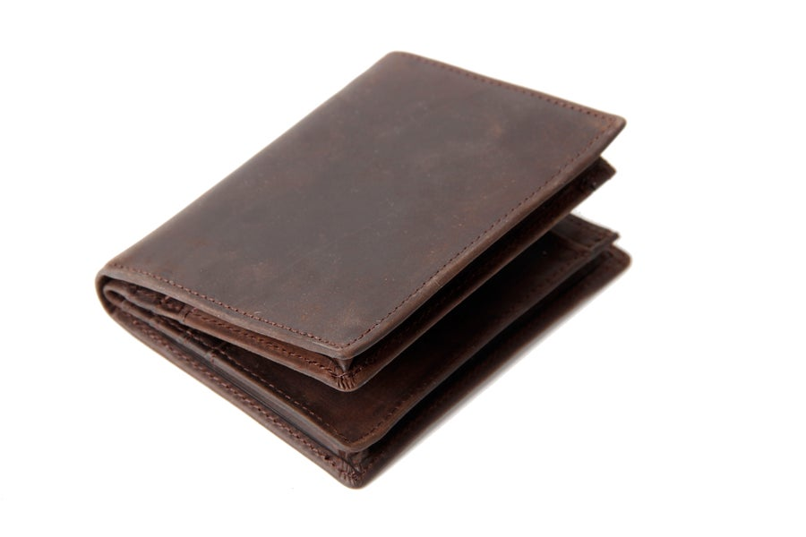 Image of Handmade Custom Wholesale Genuine Leather Wallet Money Purse Bag Men Short Wallet Card Holder 197
