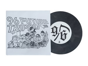 Image of 96 FUTURE TRIPPIN' // BLACK MARBLE // 7 INCH VINYL RECORD GERMANY RELEASE