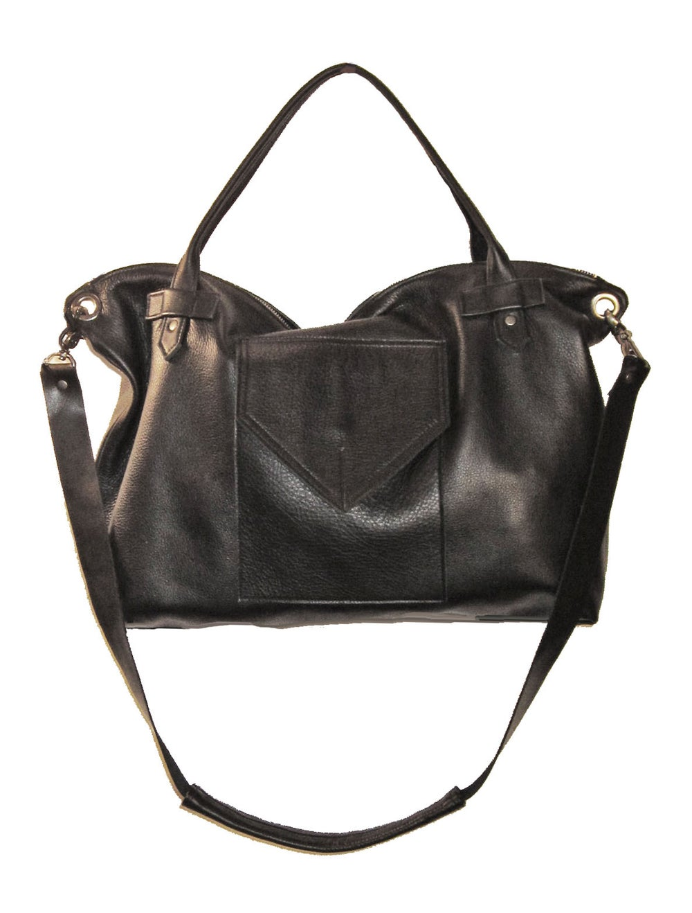 Image of The London Black Leather Bag