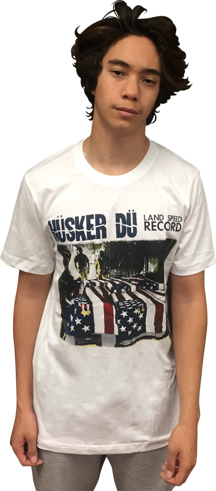Image of HÜSKER DÜ: LAND SPEED RECORD (COLOR VERSION) T-SHIRT