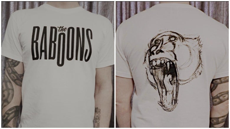 Image of T-Shirt The Baboons White (Logo)
