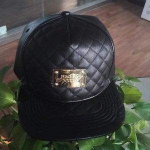 Image of Black Leather Strapback