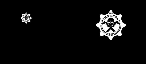 Image of TT2200 Black T-Shirt White Print