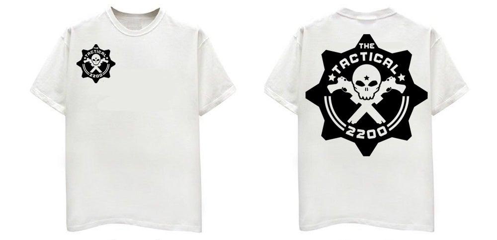 Image of TT2200 White Shirt Black Print