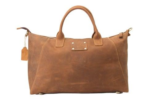 Image of Handmade Genuine Leather Briefcase, Tote Bag, Messenger Shoulder Bag ZB03