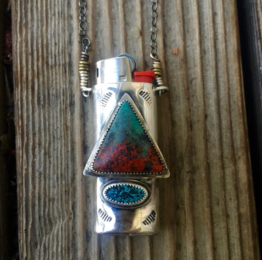 Image of SONORA SUNRISE AND TURQUOISE MINI FIRE NECKLACE