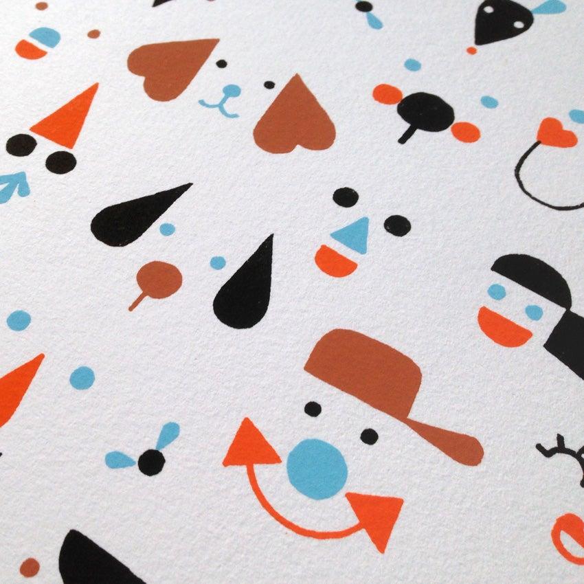 Image of Serigrafía Caras / Faces Silkscreen edition