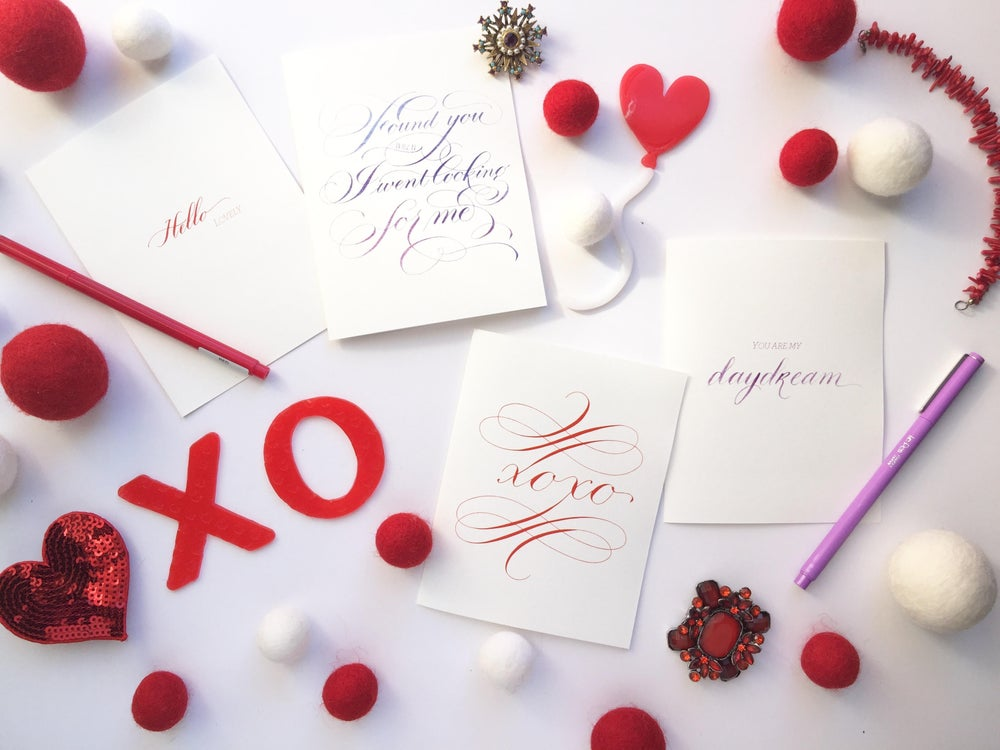 Image of Flourished xoxo card