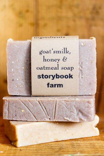 Image of Four Different Goat's Milk Soaps 38% local