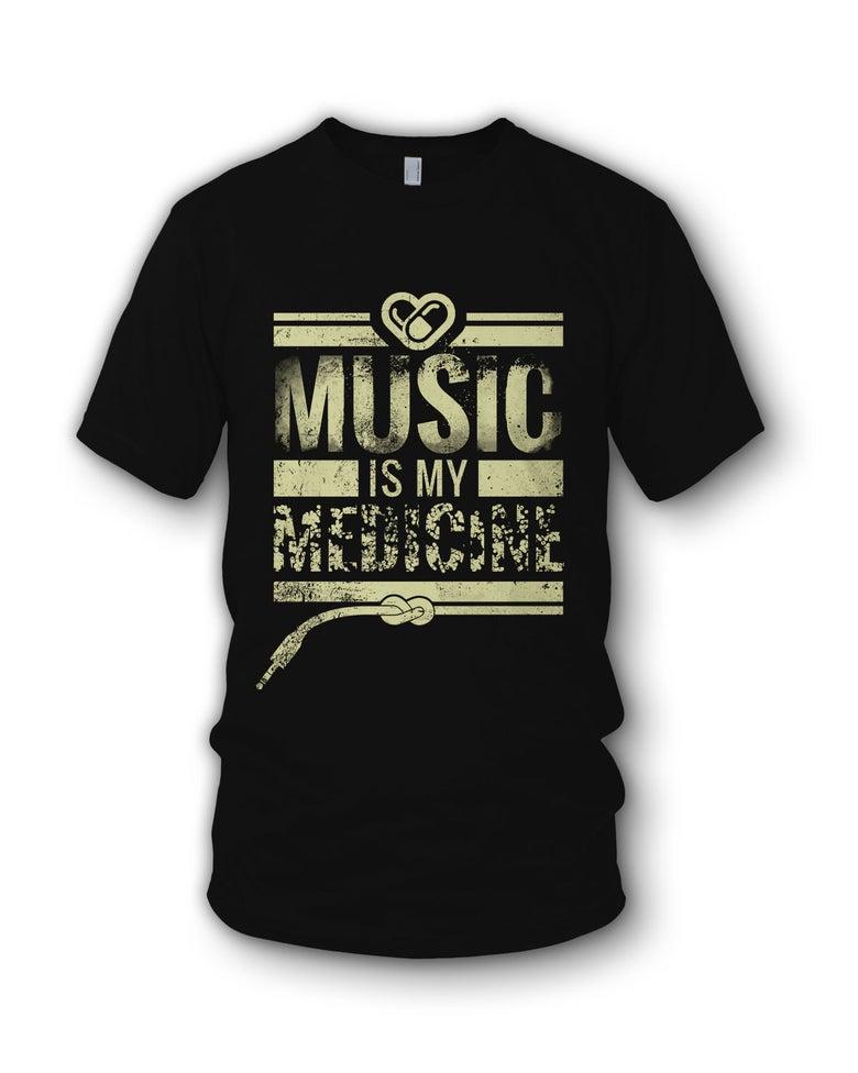 Image of Music Is My Medicine - Black T Shirt
